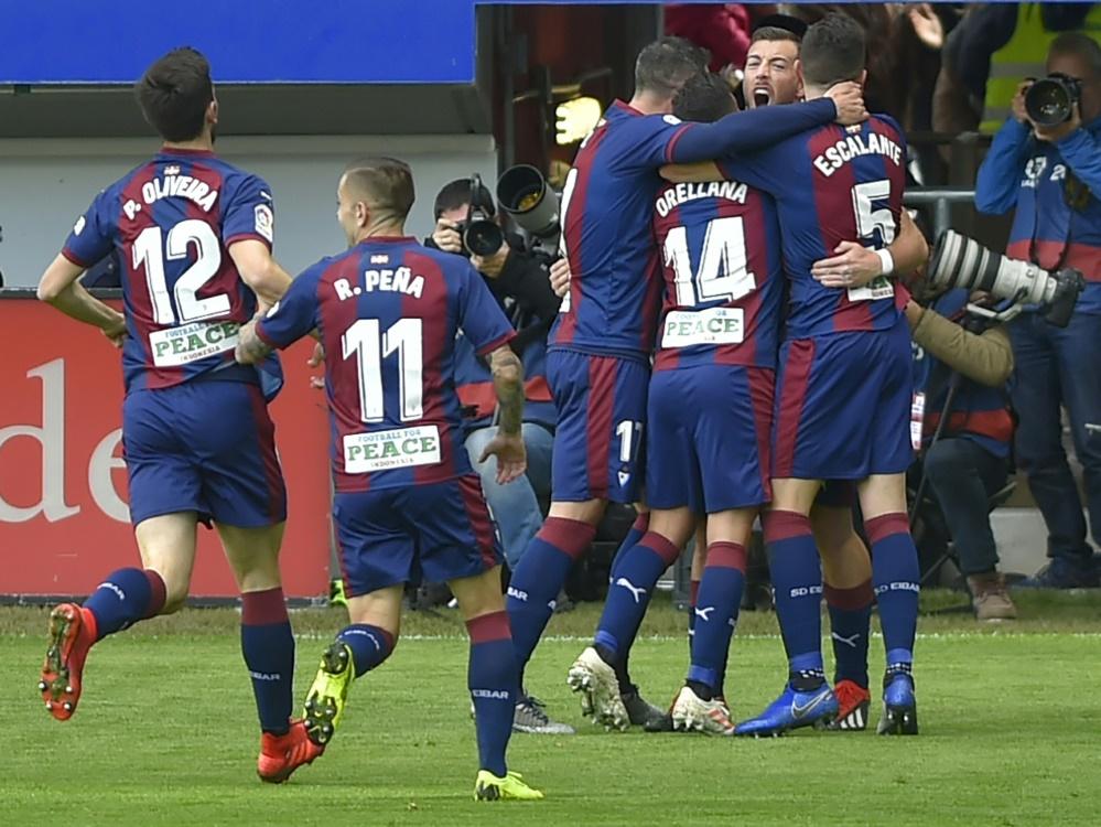 Eibar bejubelt den zweiten Treffer gegen Real Madrid