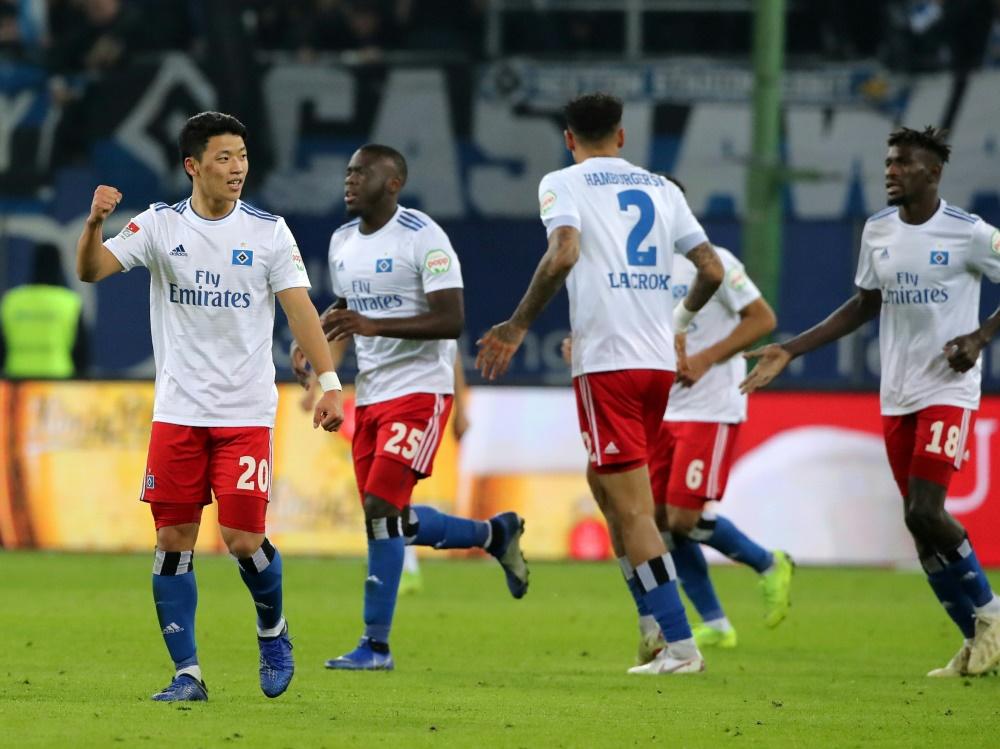 Der Hamburger SV steht weiter an der Spitze der 2. Liga