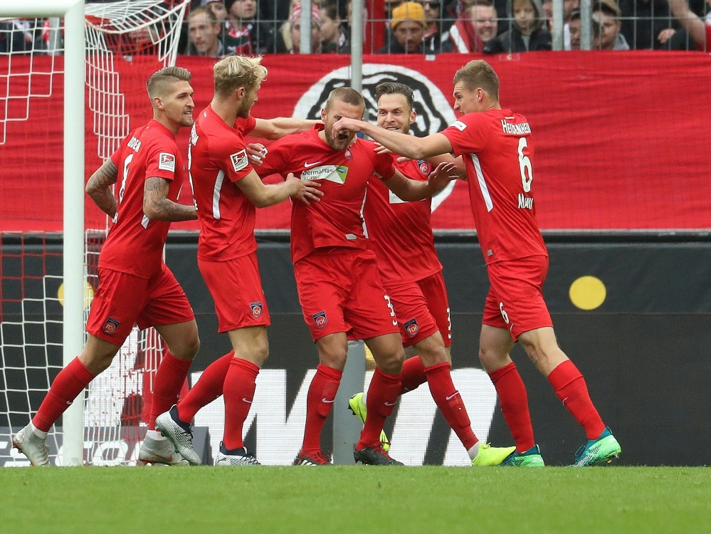 Der FC Heidenheim besiegt Sandhausen 2:1