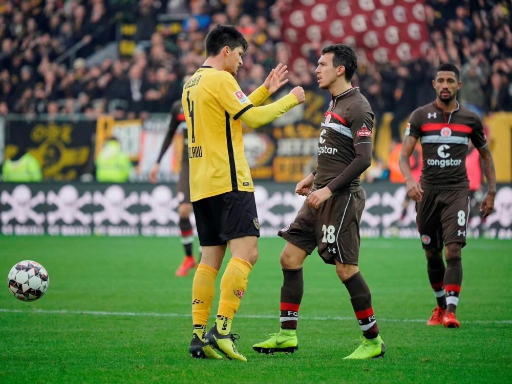 St. Pauli und Dresden trennen sich mit 1:1