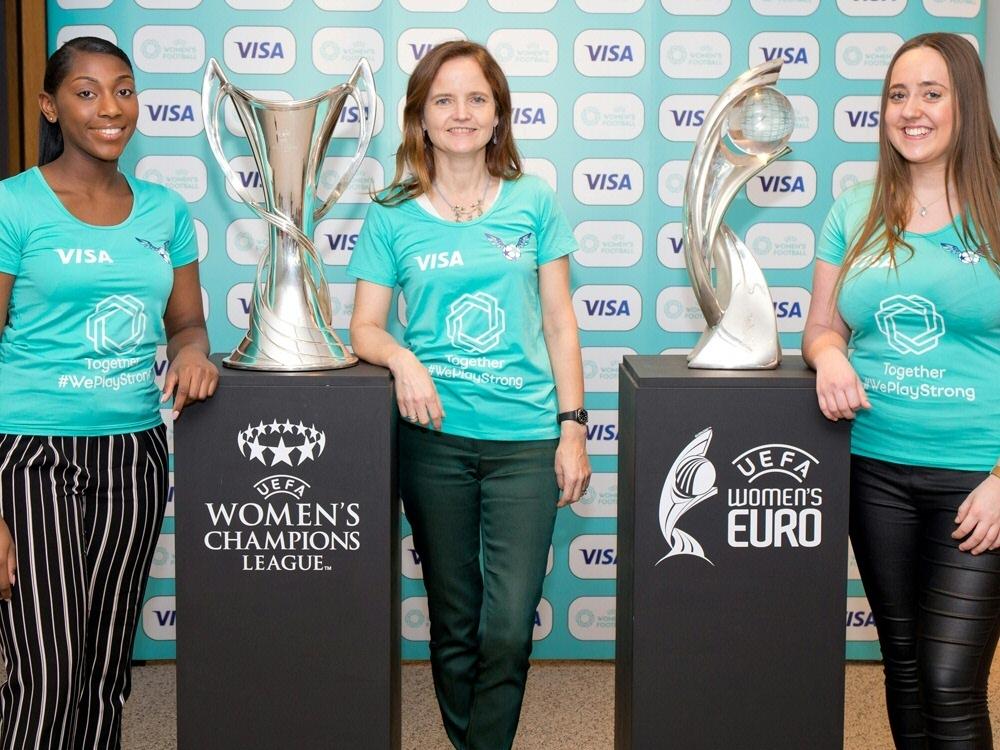 Visa ist der erste UEFA-Sponsor für Frauenfußball