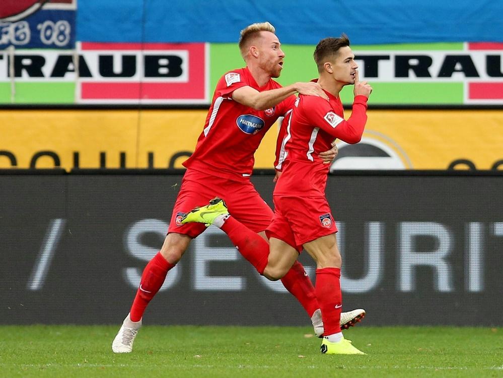 Matchwinner: Dovedan (r.) traf doppelt gegen Duisburg