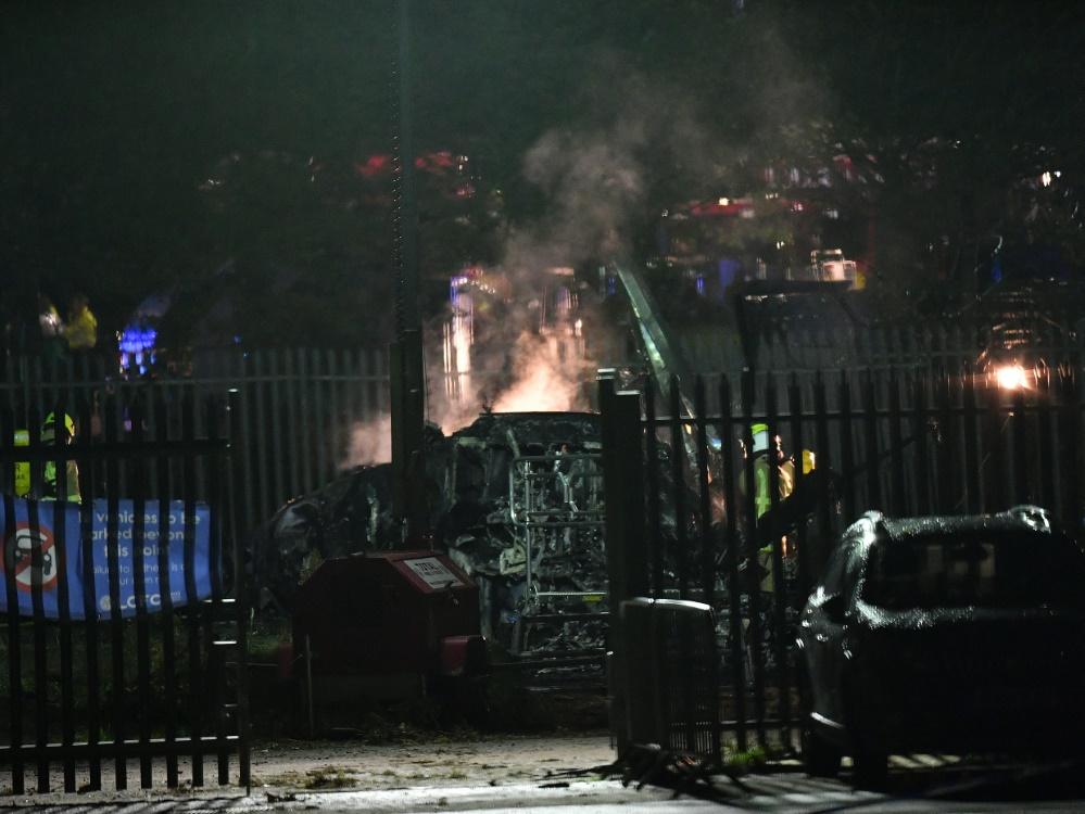 Der Hubschrauber brannte völlig aus