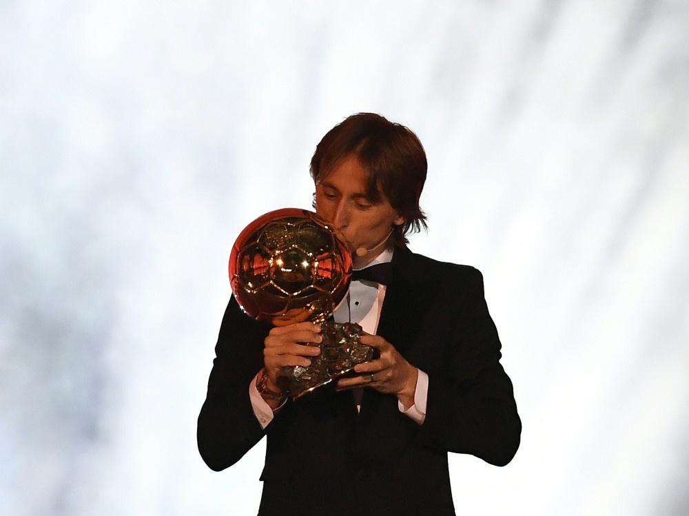 Modric wurde mit dem Ballon d'Or ausgezeichnet