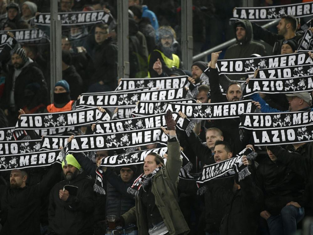 Insgesamt 9000 Frankfurter Fans sind nach Rom gereist