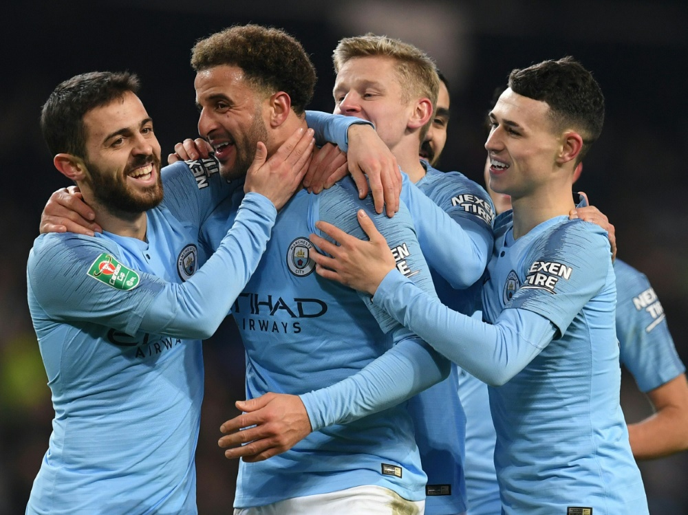 Manchester City zerlegt Drittligist Burton Albion