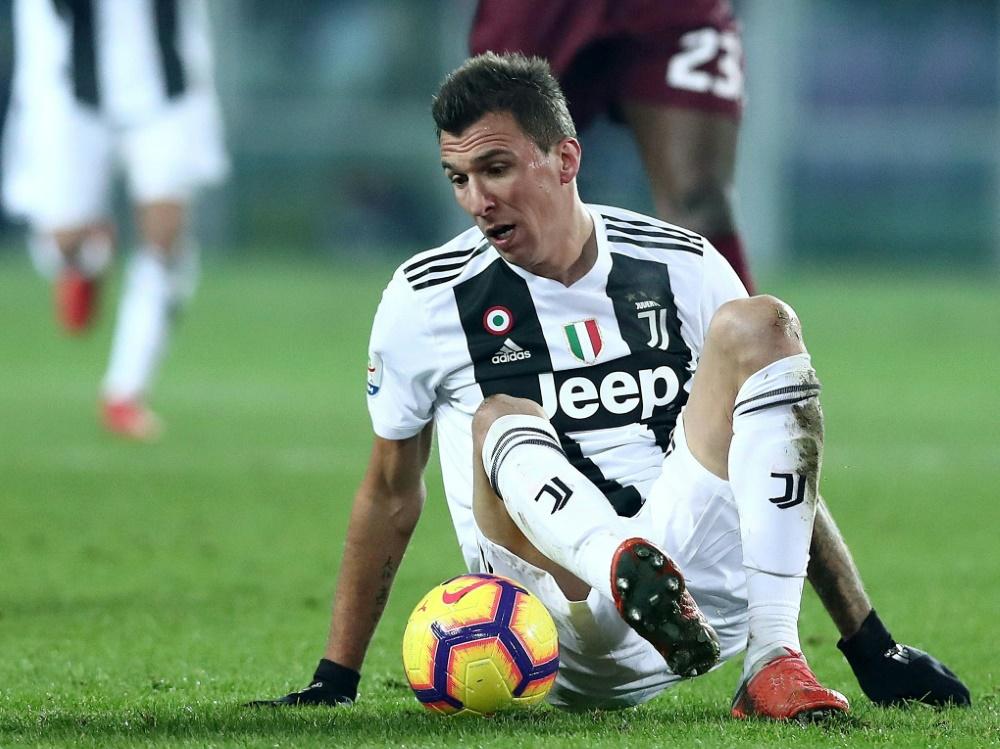 Mario Mandzukic fehlt Juventus in den kommenden Spielen