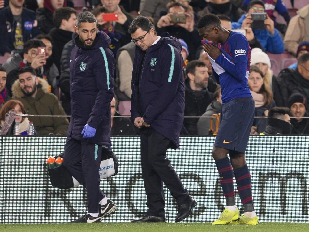 Verletzte sich gegen Leganes am Knöchel: Ousmane Dembele