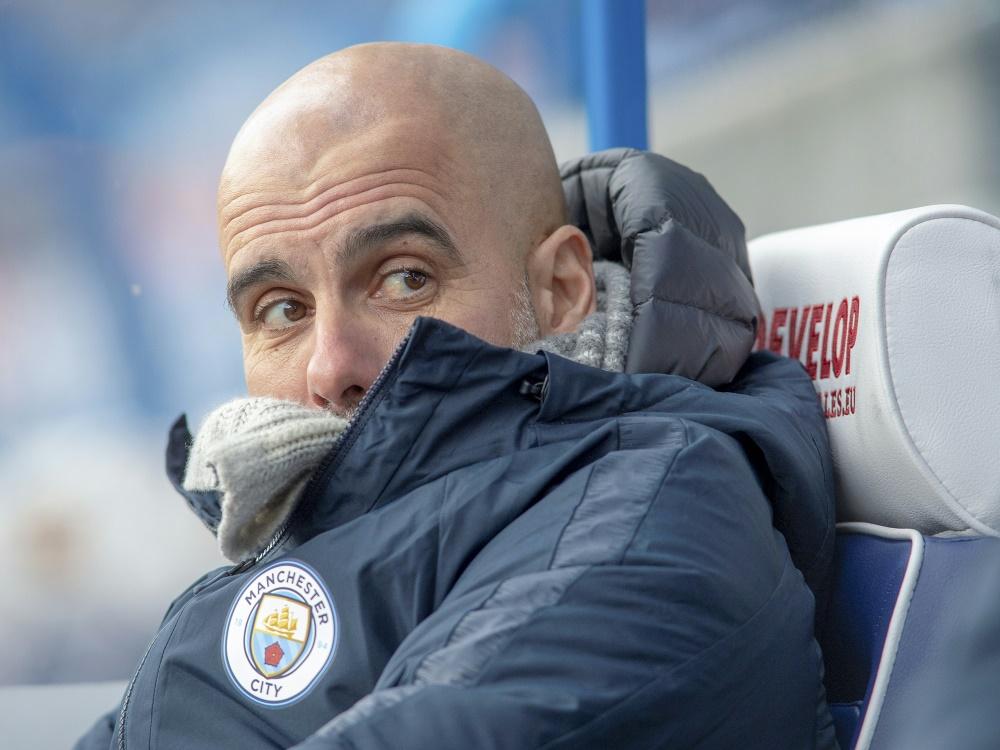 Pep Guardiola bleibt trotz des Rückschlags optimistisch