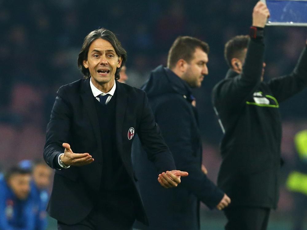 Inzaghi war erst seit dieser Saison Trainer in Bologna