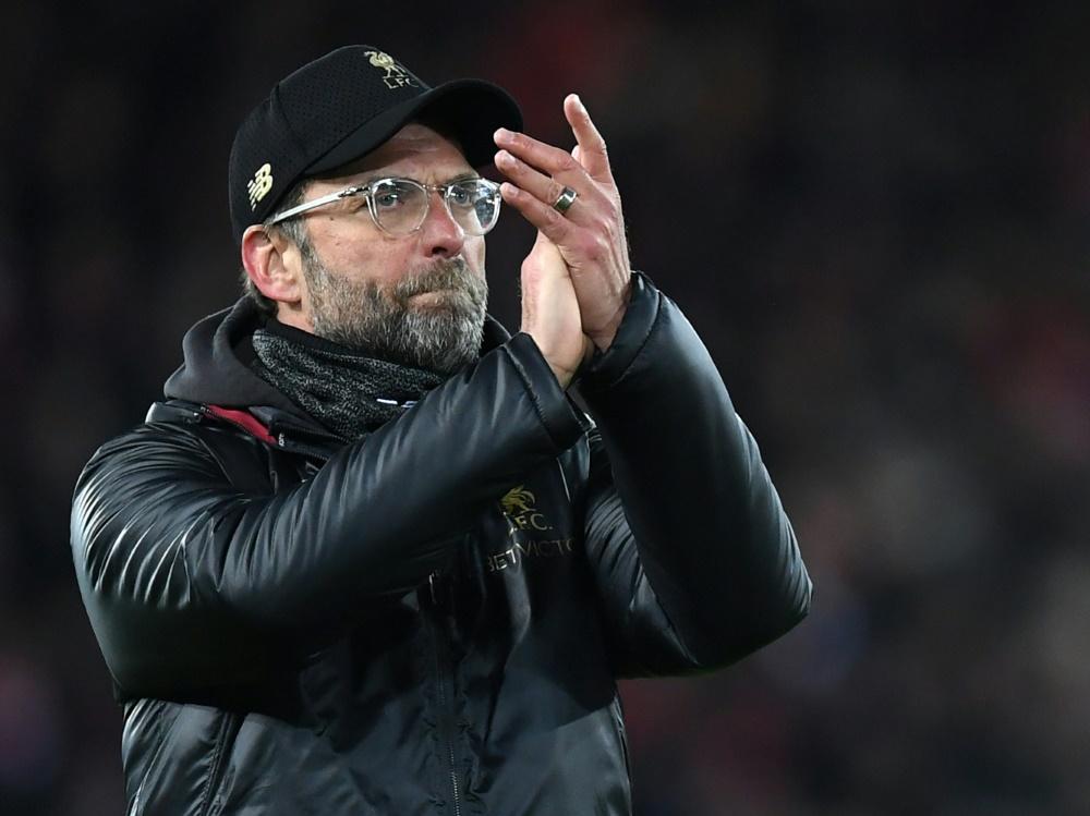 Klopp hat mit Liverpool fünf Punkte Vorsprung auf City