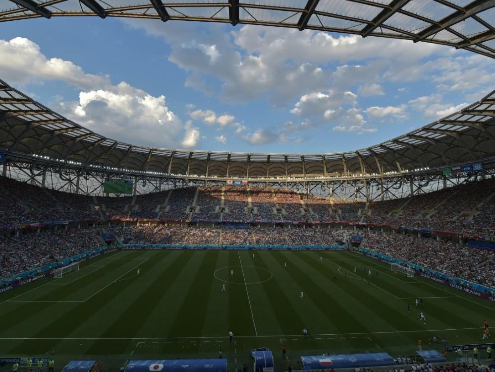Weiter gut besucht: Das WM-Stadion in Wolgograd