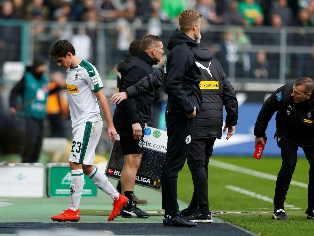 Jonas Hofmann musste in der 34. Minute verletzt vom Feld