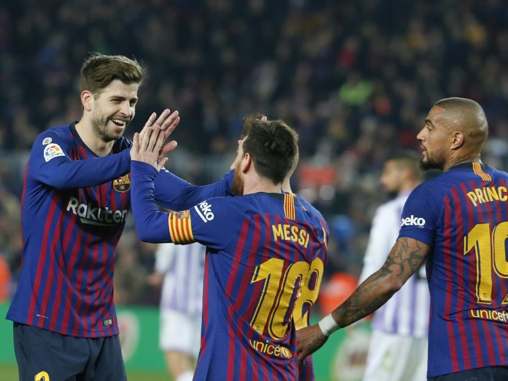 Der FC Barcelona siegt bei Boatengs erstem Ligaeinsatz
