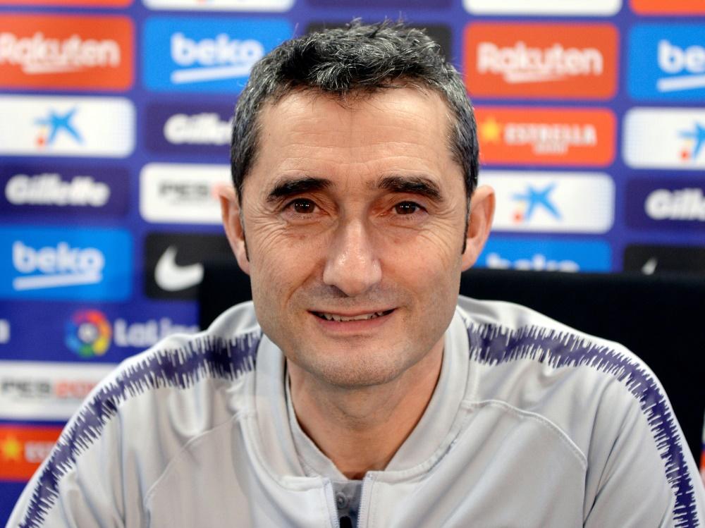 Ernesto Valverde ist seit 2017 Trainer beim FC Barcelona