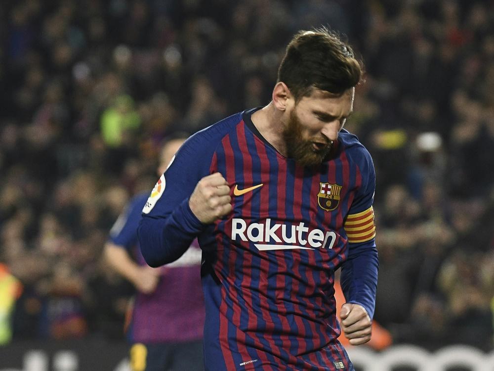 Messi rettete Barcelona mit seinem Dreierpack den Sieg