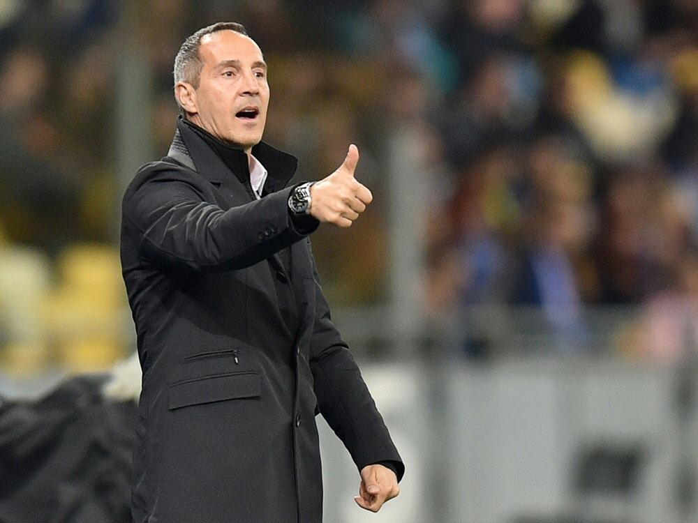 Hütter blickt selbstbewusst auf das Rückspiel in Mailand