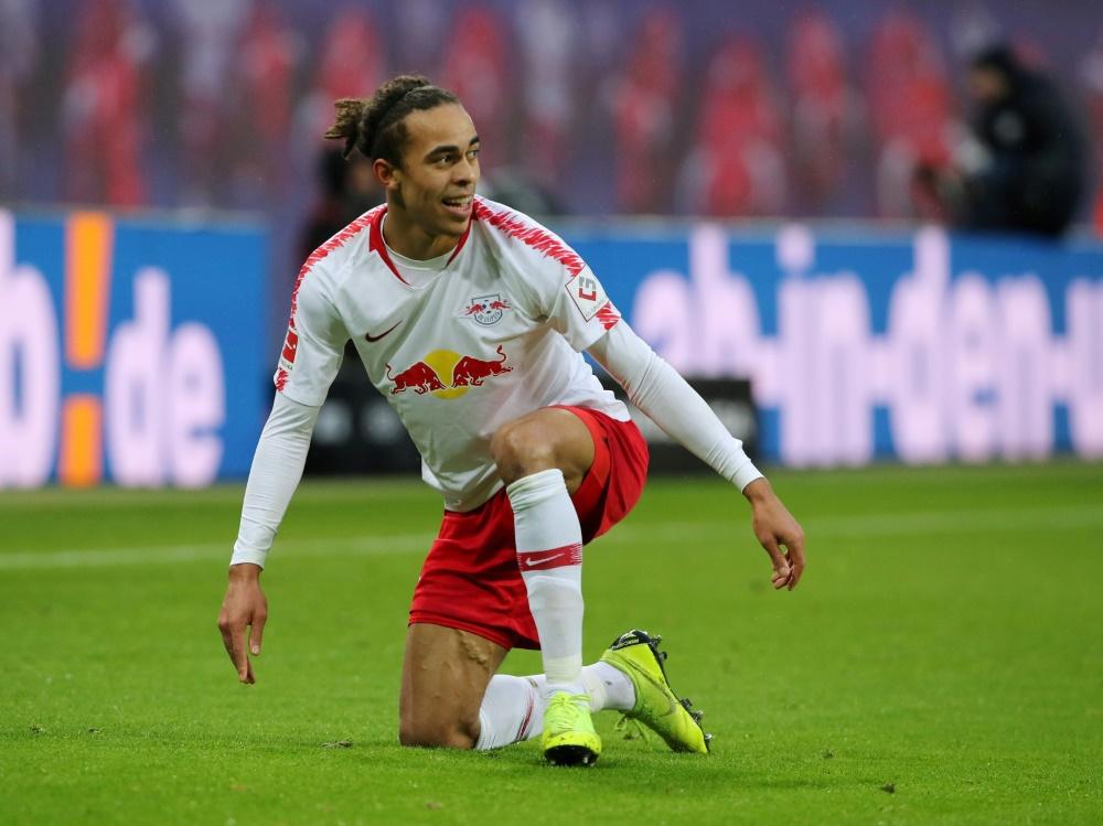 Stürmer Yussuf Poulsen ist seit 2013 bei RB Leipzig