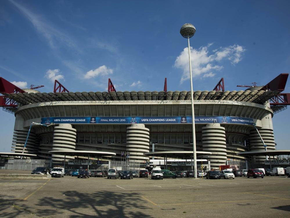 Um das Giuseppe-Meazza-Stadion gilt ein Alkoholverbot
