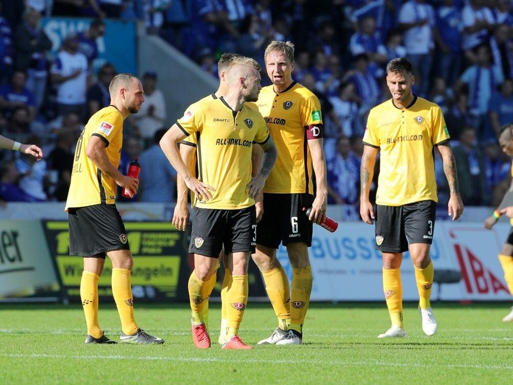 Dynamo Dresden kassiert Niederlage in Sandhausen