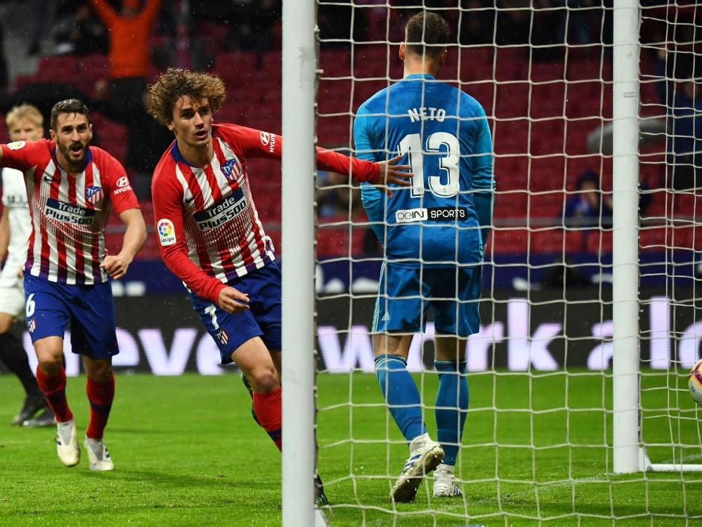 Atletico Madrid gewann mit 3:2 gegen den FC Valencia
