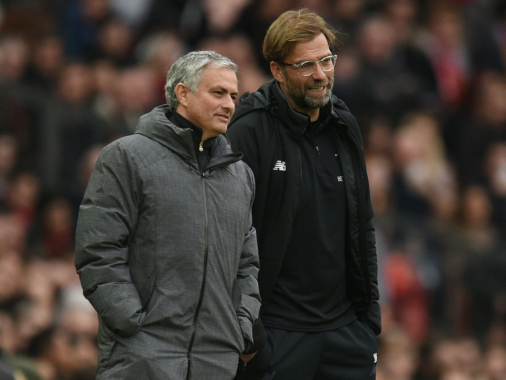 Jose Mourinho (l.) lobt Jürgen Klopps Comeback-Qualität