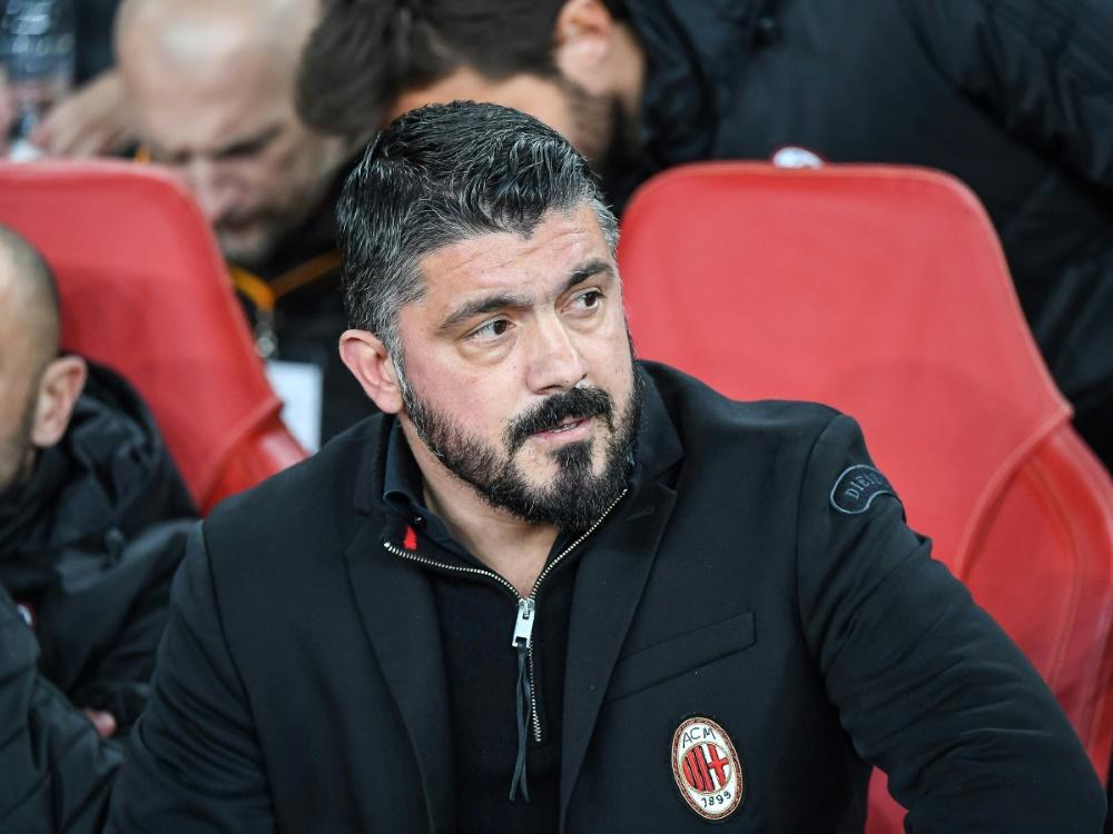 Auch Trainer Gattuso steht vor dem Abschied