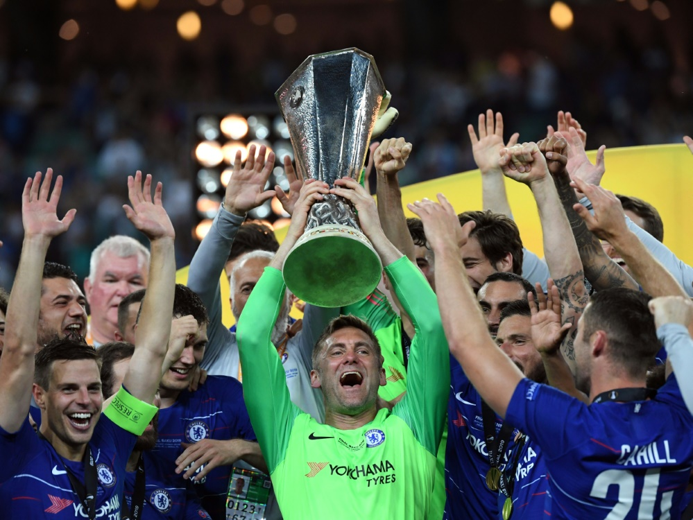 Green (M.) jubelt nach dem Europa-League-Sieg