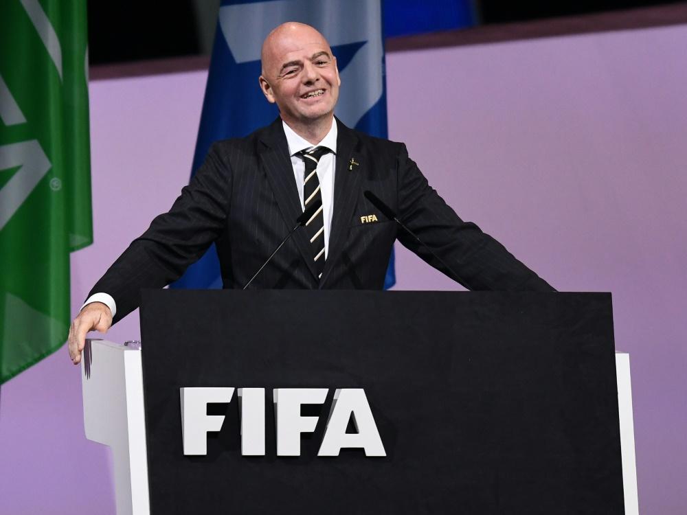 FIFA-Präsident Infantino ist gegen die CL-Reformpläne