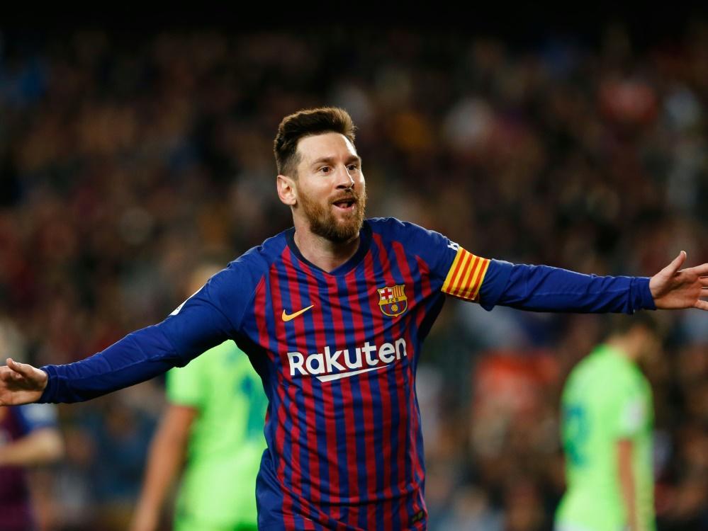 Messi führt die Liste vor Ronaldo und Neymar an