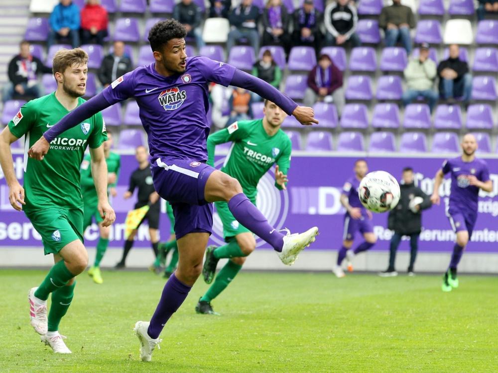 Emmanuel Iyoha war letzte Saison an Aue ausgeliehen