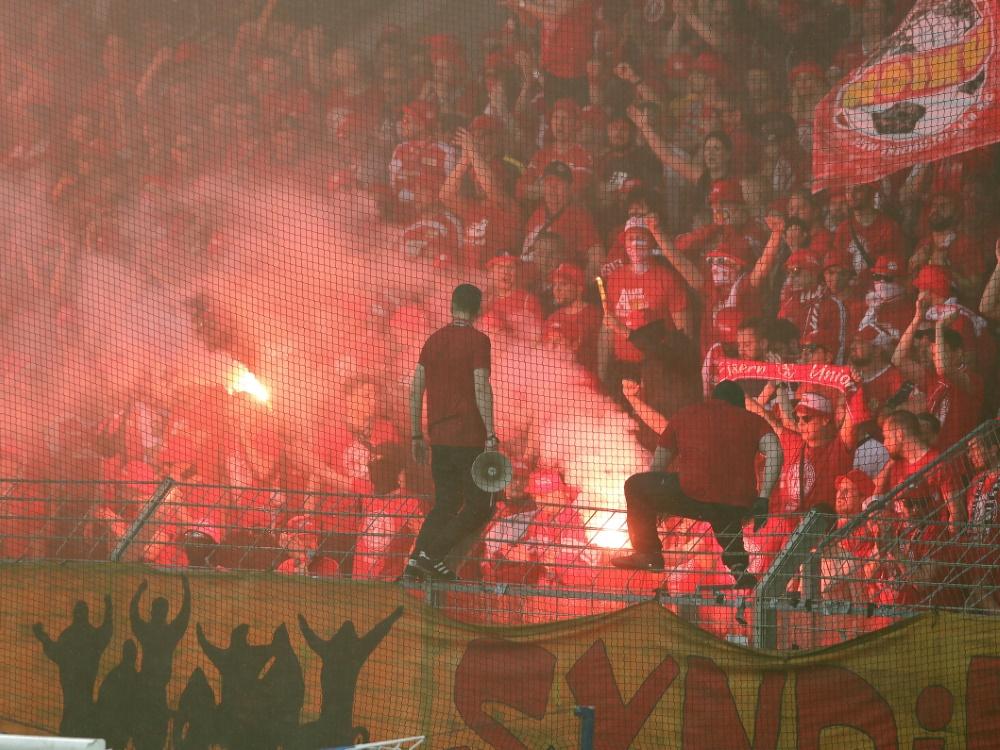 Wegen Pyrotechnik: Union Berlin wird zur Kasse gebeten
