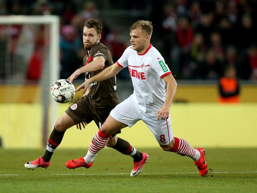 Geis (r.) stieg mit dem 1. FC Köln in die Bundesliga auf