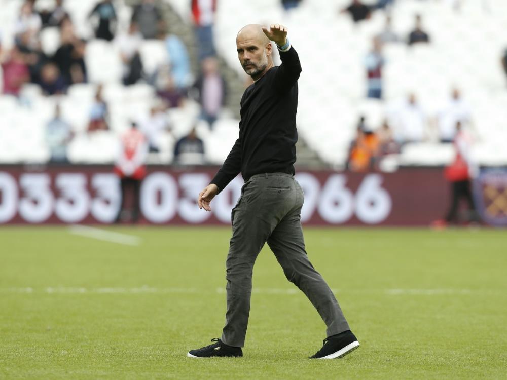 Guardiola von Sterlings Qualitäten überzeugt