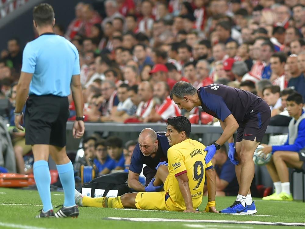 Luis Suarez fällt vorerst mit einer Wadenverletzung aus
