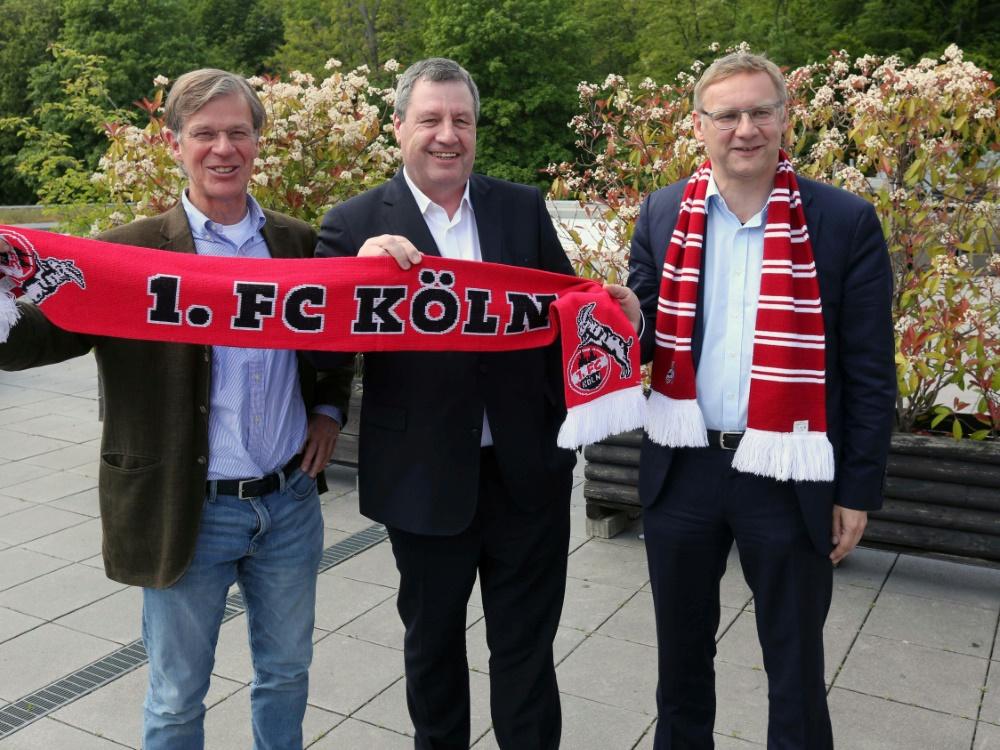 Werner Wolf (M.) ist neuer Präsident beim 1.FC Köln