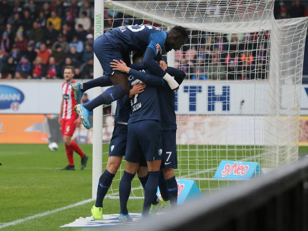 Der VfL Bochum bejubelt seinen ersten Saisonsieg
