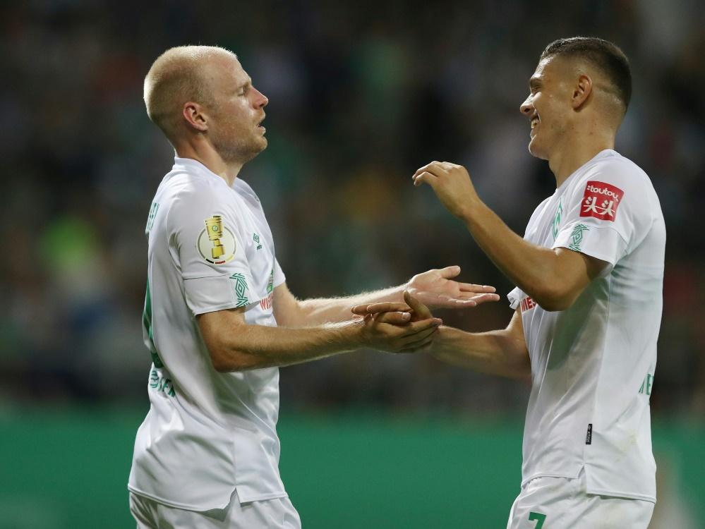 Klaassen (l.) und Rashica treffen für Werder Bremen