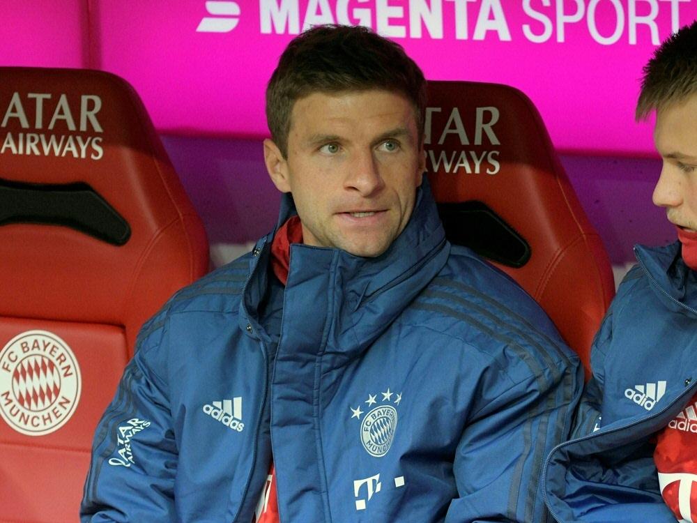 Thomas Müller saß zuletzt fünfmal in Folge auf der Bank