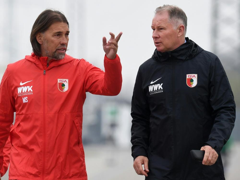 Für Reuter (r.) steht Trainer Schmidt nicht infrage