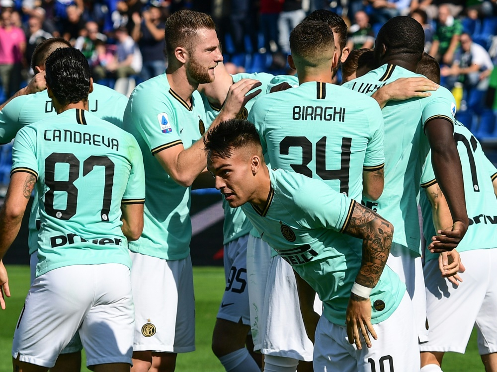 Inter Mailand siegt bei Sassuolo Calcio 4:3