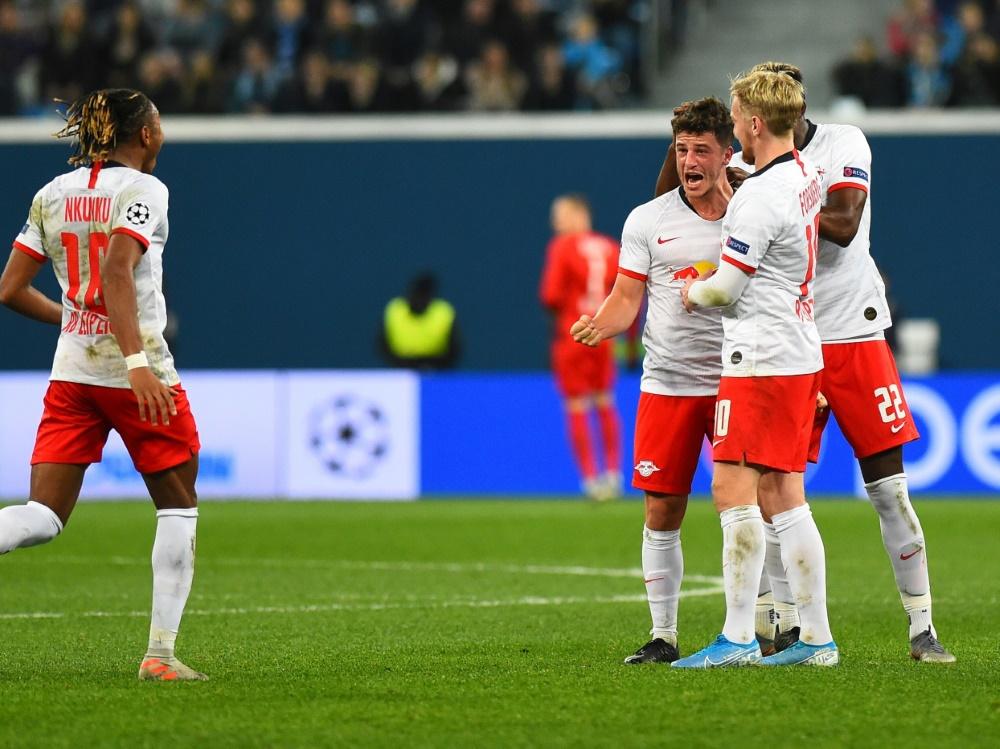 Diego Demme bejubelt das zweite Tor seiner Profikarriere