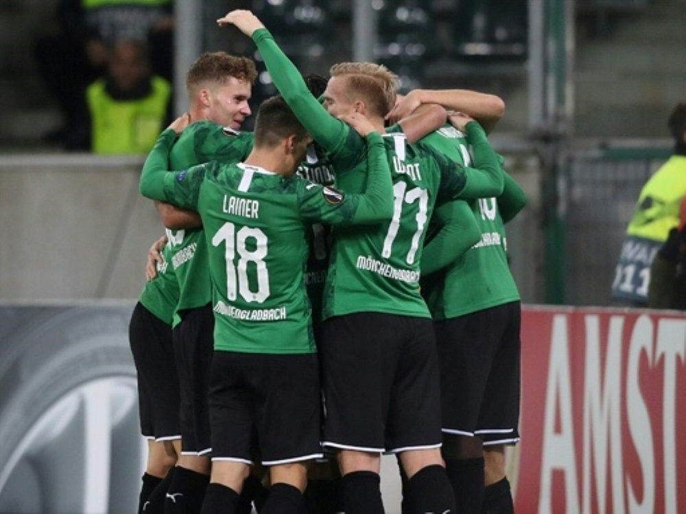 Borussia Mönchengladbach gewann gegen die AS Rom mit 2:1