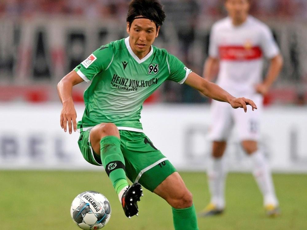 Genki Haraguchi von Hannover 96 trifft für Japan