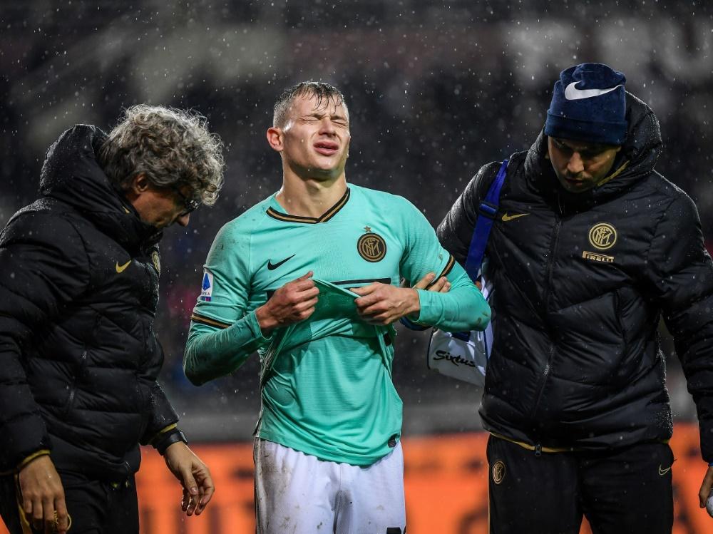 Barella verletzte sich im Spiel beim FC Turin