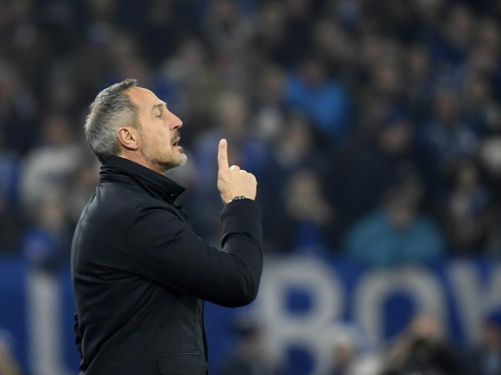 Hütter und Frankfurt spielen am Samstag gegen Hoffenheim