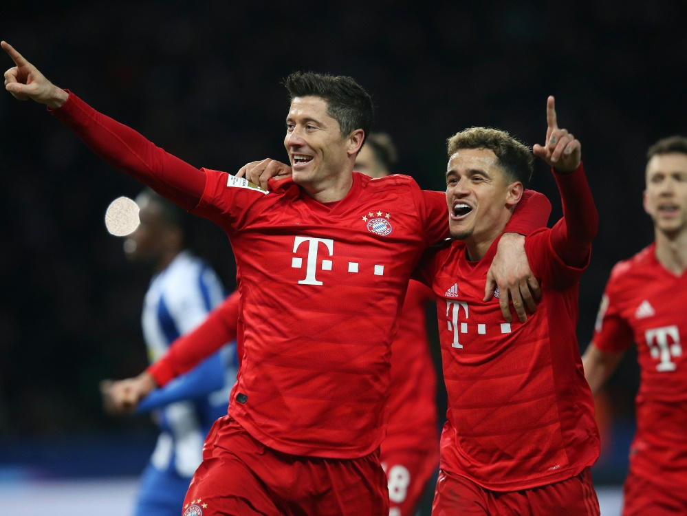 Bayern München besiegt Hertha BSC Berlin deutlich 4:0