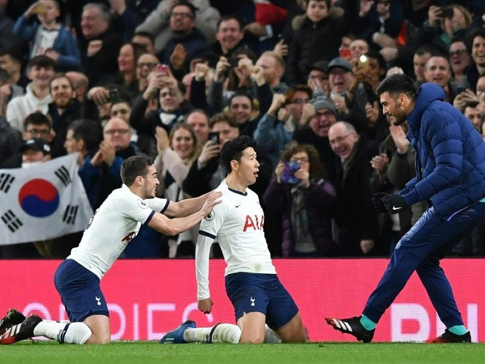 Heung-min Son erzielt den Siegtreffer für die Spurs