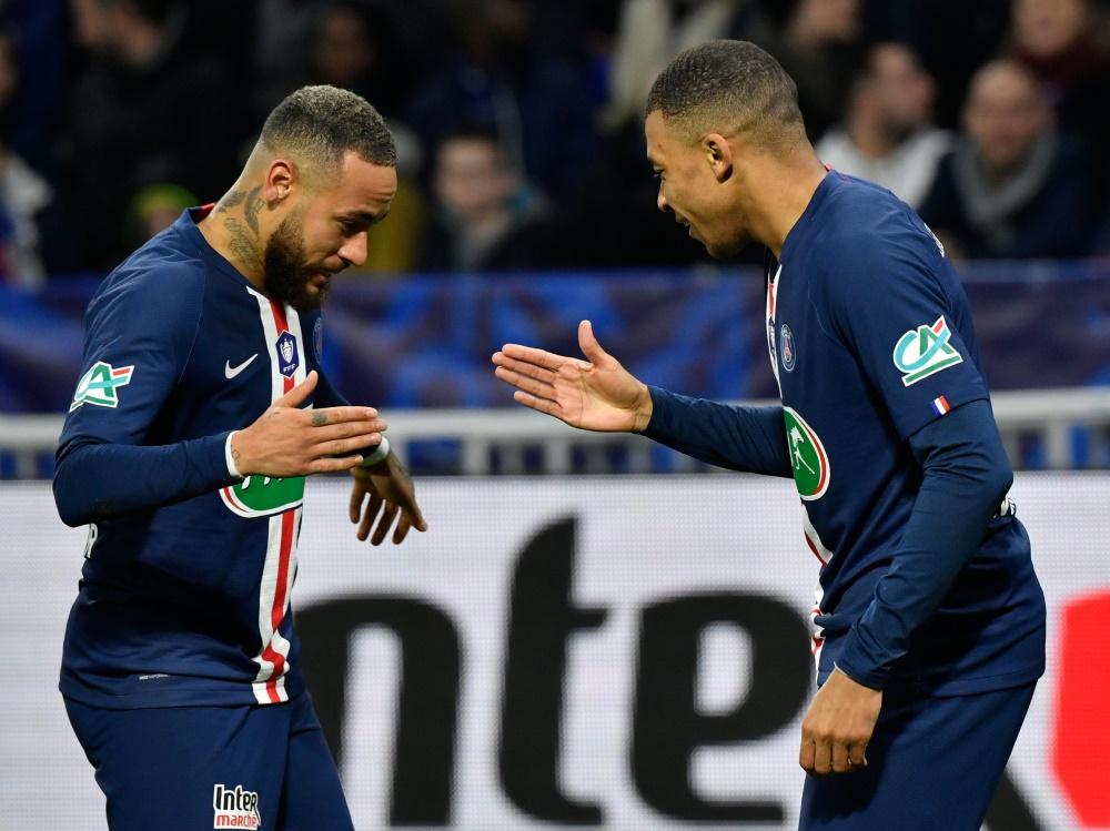 Neymar und Kylian Mbappe schießen PSG ins Pokalfinale