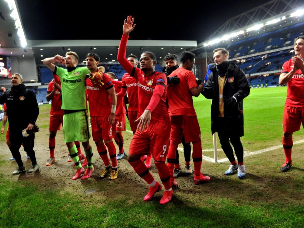 Begeistert von der Atmosphäre: Bayer Leverkusen
